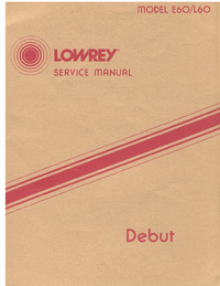 Manual de servicio Lowrey E60