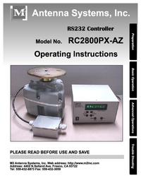 Bedienungsanleitung mit Schaltplan M2 RC2800PX-AZ