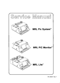 Service Manual MRL MRL Pic System