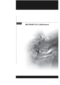 User Manual MSI MS-7504PV (V1.1)