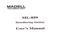 User Manual Madell ML-859
