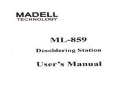 Bedienungsanleitung Madell ML-859