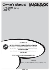 User Manual Magnavox 20MF Series