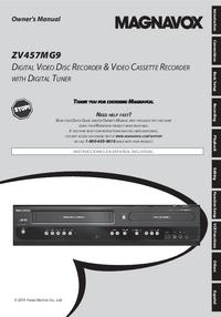 Manuel de l'utilisateur Magnavox ZV457MG9