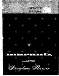 Manual de servicio Marantz 2500