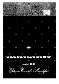 Service Manual Marantz 1040