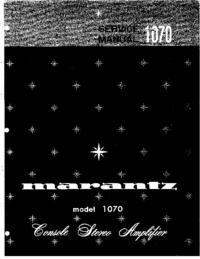 Manuale di servizio Marantz model 1070