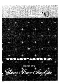 manuel de réparation Marantz model 140