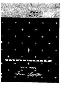 Instrukcja serwisowa Marantz model 170DC