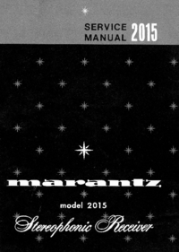 Service Manual Marantz model 2015