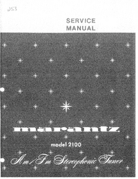 Service Manual Marantz model 2100