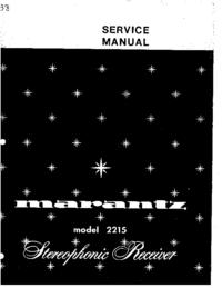 Servicehandboek Marantz 2215