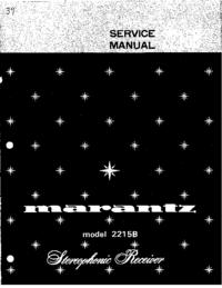 Manuale di servizio Marantz 2215B