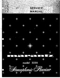 manuel de réparation Marantz 2220
