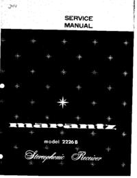 Servicehandboek Marantz 2226B
