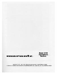Manual do Usuário Marantz 2230