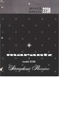 Manual de servicio Marantz 2238