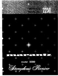 manuel de réparation Marantz 2250