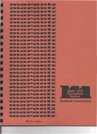 User Manual Marantz 2270