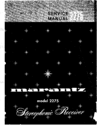 Manual de servicio Marantz 2275