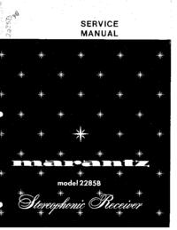 Instrukcja serwisowa Marantz 2285B