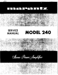Service Manual Marantz 240