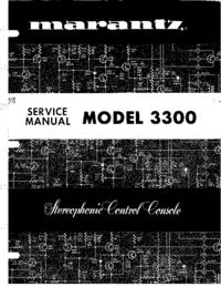 Manuale di servizio Marantz 3300