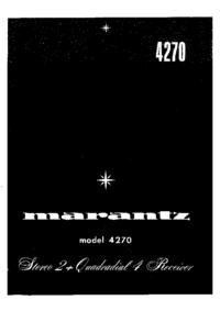 Руководство по техническому обслуживанию Marantz 4270