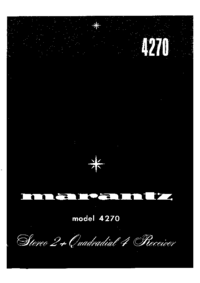 Service Manual Marantz 4270