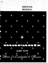 Manual de servicio Marantz 4230