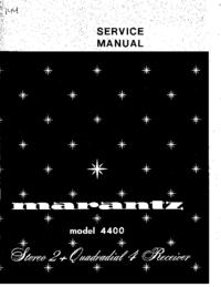 Manual de servicio Marantz 4400