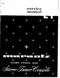 Manual de serviço Marantz 24
