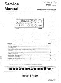 Service Manual Marantz SR680