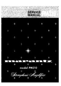 Manual de servicio Marantz PM310