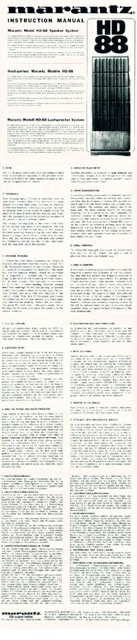 Gebruikershandleiding Marantz HD-88
