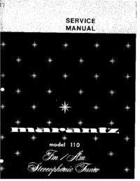 Serviceanleitung Marantz 110