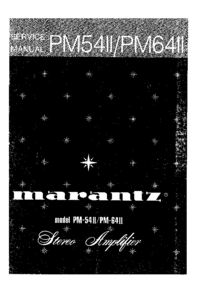 Manual de servicio Marantz PM54II