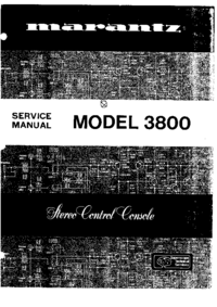 Service Manual Marantz 3800