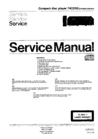 Service Manual Marantz 74CD50