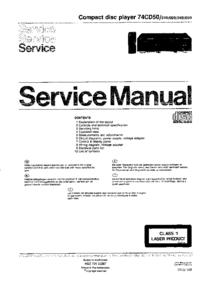Manuale di servizio Marantz 74CD50