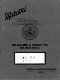 Servizio e manuale utente Marconi XG 54