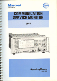 Gebruikershandleiding Marconi 2945