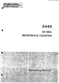 Instrukcja obsługi Marconi 2440