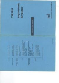 Service et Manuel de l'utilisateur Marconi TM 9954