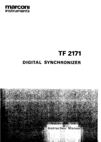 Service and User Manual Marconi TF 2171