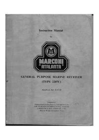Diagrama cirquit Marconi Atalanta 2207C