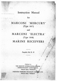 Marconi Electra 1018
