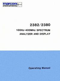 User Manual Marconi 2382