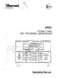 Manual do Usuário Marconi 2022C