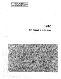 Service- und Bedienungsanleitung Marconi 6910